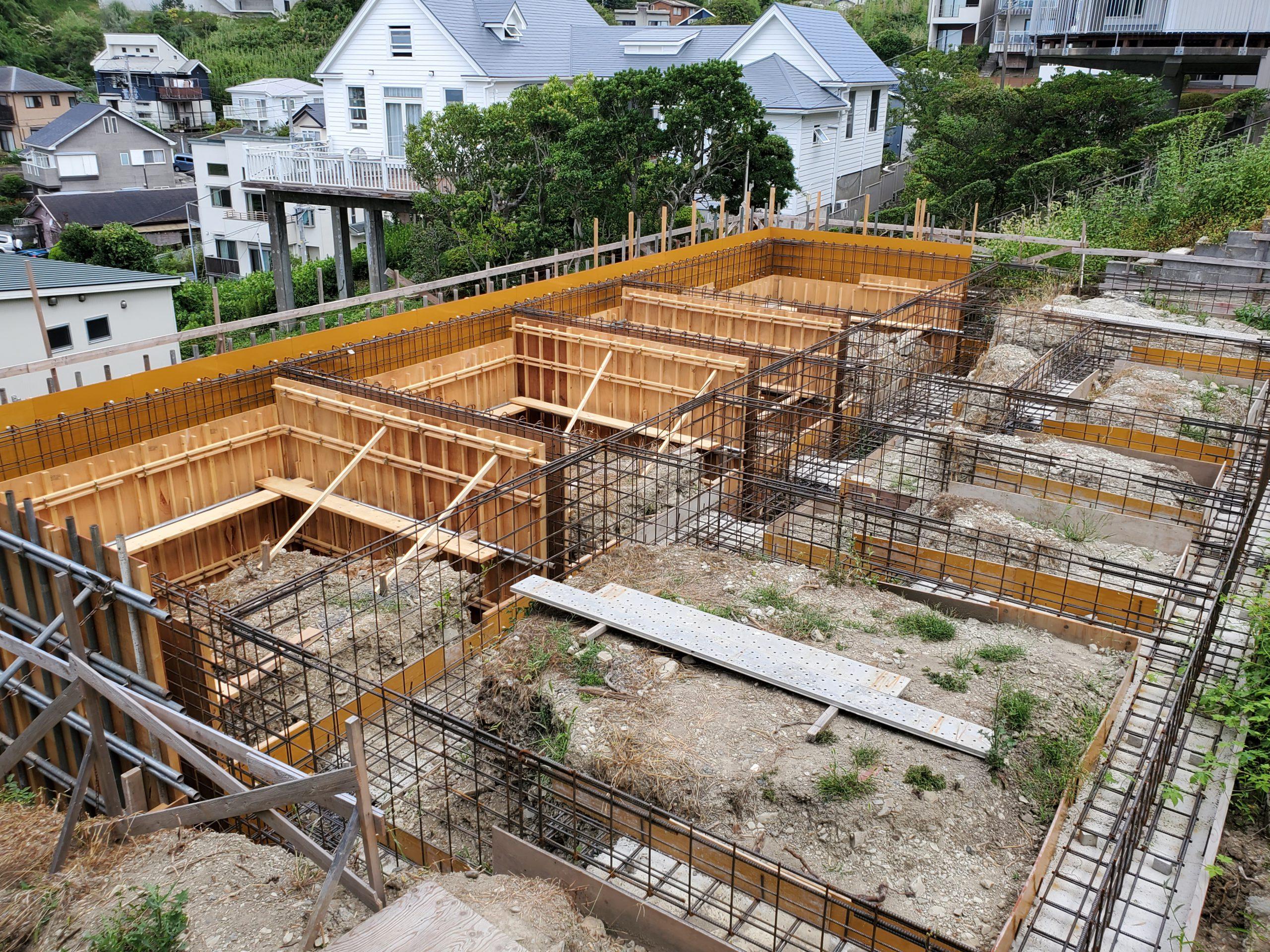 第二回目のコンクリート打設の準備完了